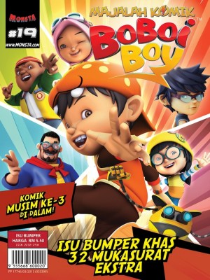 Majalah Komik BoBoiBoy Isu #19 by Animonsta Studios Sdn Bhd from Animonsta Studios Sdn Bhd in Comics category