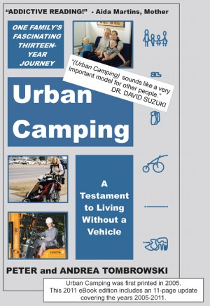 Urban Camping A Testament to Living Without a Vehicle by Peter Tombrowski from Bookbaby in Autobiography,Biography & Memoirs category