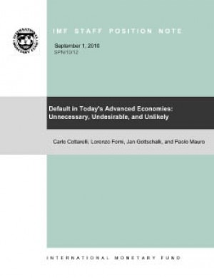 Default in Today's Advanced Economies: Unnecessary, Undesirable, and Unlikely by Carlo Cottarelli from Vearsa in Finance & Investments category