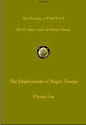 The Employment of Negro Troops by Ulysses Lee from Vearsa in History category