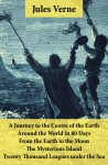 A Journey to the Centre of the Earth, Around the World in 80 Days, From the Earth to the Moon, The Mysterious Island & Twenty Thousand Leagues under the Sea by Jules Verne from  in  category