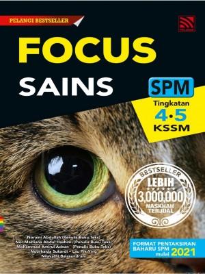 Focus SPM Sains (2021) by Noraini Abdullah, Nor Mazliana Abdul Hashim, Mohammad Amirul Adnan, Noorhaida Sukardi, Lau Pik Ying, Nilavathi Balasundram from Pelangi ePublishing Sdn. Bhd. in School Reference category