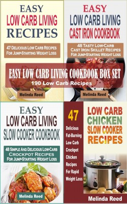 Easy Low Carb Living Cookbook Box Set by Melinda Reed from PublishDrive Inc in Recipe & Cooking category