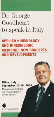 Dr. George Goodheart to speak in Italy by AA. VV. from StreetLib SRL in Family & Health category