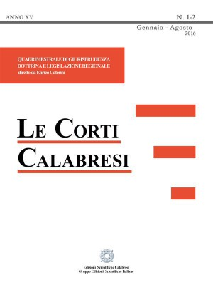 Le Corti Calabresi - Fascicolo 1-2 - 2016 by Enrico Caterini from StreetLib SRL in Law category